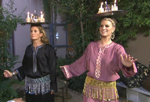 Jessica Simpson and Cacee Cobb in Morocco