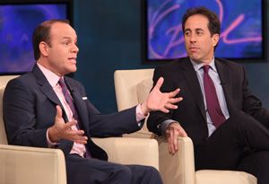 Jerry Seinfeld and Tom Papa
