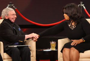 Chaz and Roger Ebert with Oprah