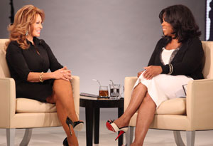 Raquel Welch and Oprah