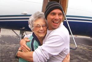 Kenny Chesney and his grandmother Lucy