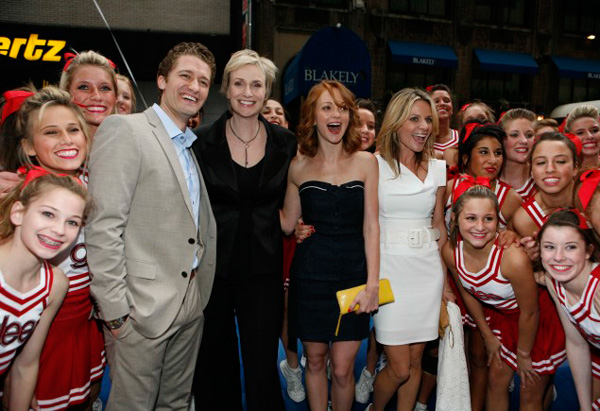 Matthew Morrison, Jane Lynch, Jayma Mays and Jessalyn Gilsig