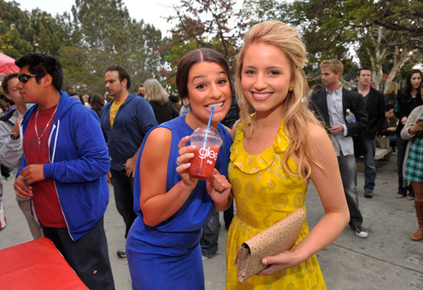 Lea Michele and Dianna Agron