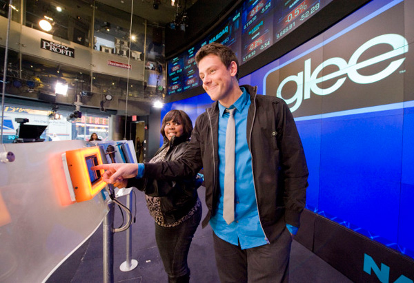 Cory Monteith and Amber Riley
