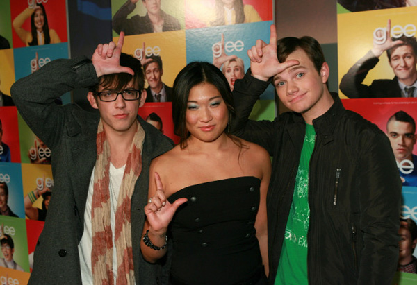 Chris Colfer, Jenna Ushkowitz and Kevin McHale