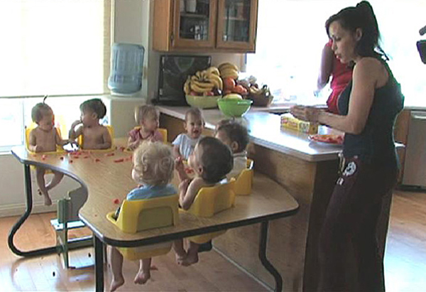 Nadya Suleman at home with octuplets