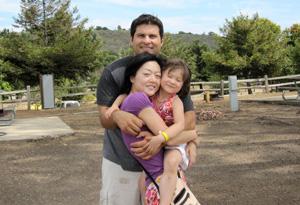 Euna Lee and family