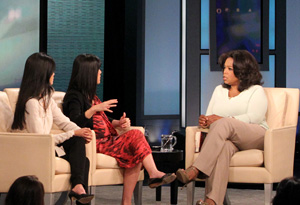 Laura Ling, Lisa Ling and Oprah