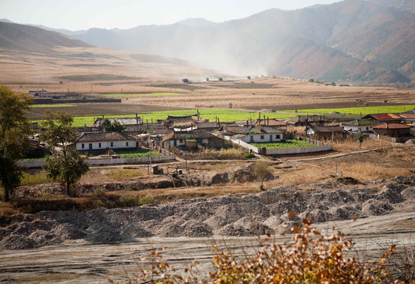 Mining village in North Korea
