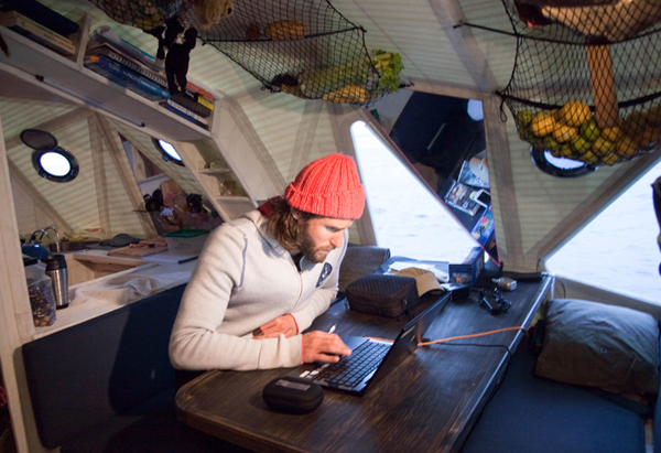 David de Rothschild sends updates from sea