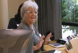 Paula Deen works at a bank.