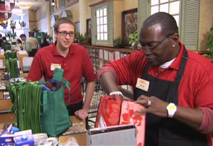Randy Jackson works at a grocery store.