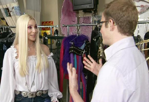 Josh meets Cher backstage.