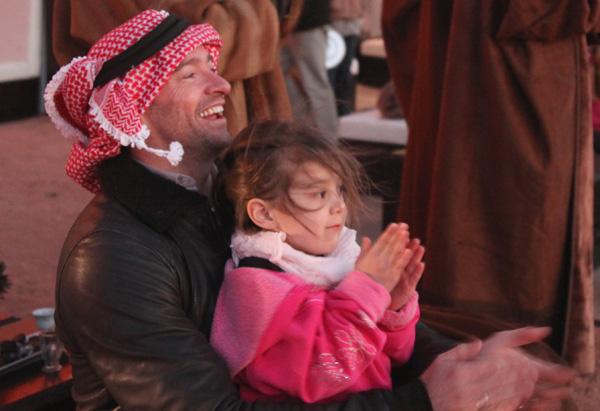 Hugh Jackman in Jordan
