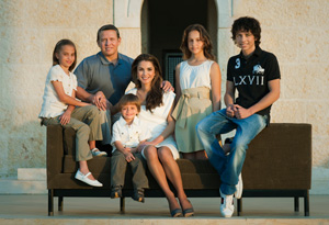 Queen Rania and family