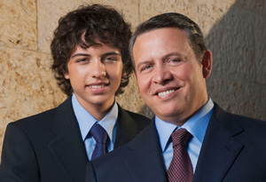 King Abdullah and Prince Hussein