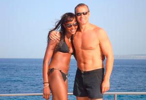 Naomi Campbell and Vladislav