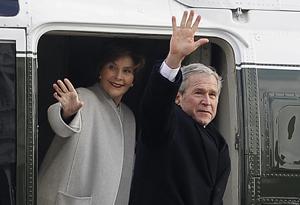 President George Bush and Laura Bush