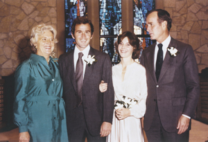 Laura and George Bush's wedding day