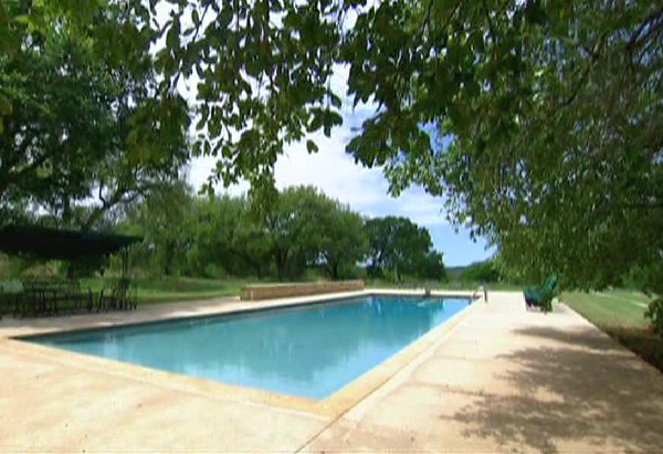 Laura Bush's swimming pool