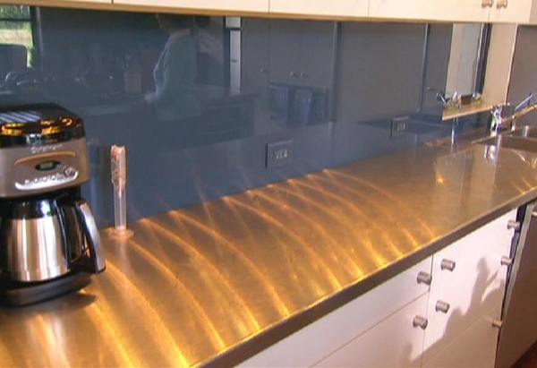 Laura Bush's Kitchen Backsplash