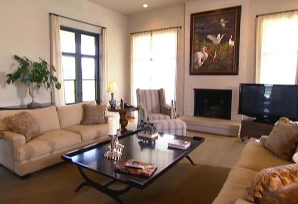 Laura Bush's living room