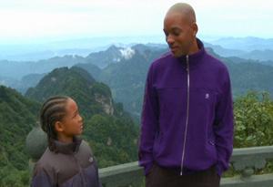 Will Smith, and Jaden Smith in China