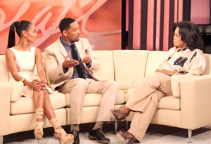 Will Smith, Jada Pinkett Smith and Oprah