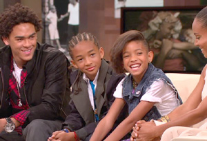 Trey, Willow and Jaden Smith