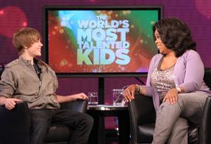 Justin Bieber and Oprah