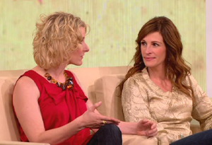 Elizabeth Gilbert and Julia Roberts