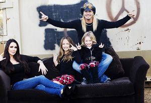 Bret Michaels and his family
