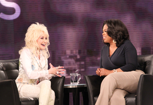 Dolly Parton and Oprah