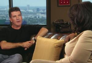 Simon Cowell and Oprah