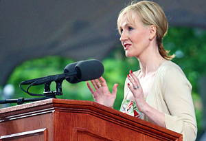 J.K. Rowling speaking at Harvard