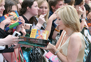 J.K. Rowling greeting fans