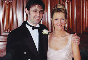 J.K. Rowling and her husband