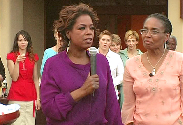 Oprah says goodbye to the women.