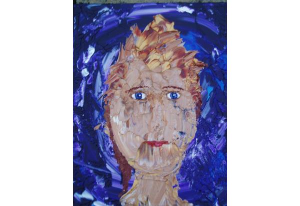 "Self portrait by Kim Noble's ""Ken"" personality."