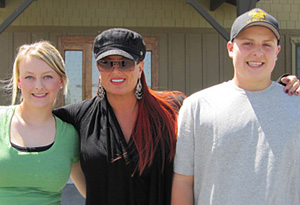 Wynonna Judd with Elijah and Grace