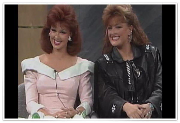 Naomi and Wynonna Judd appear on Oprah's country music show in 1990.