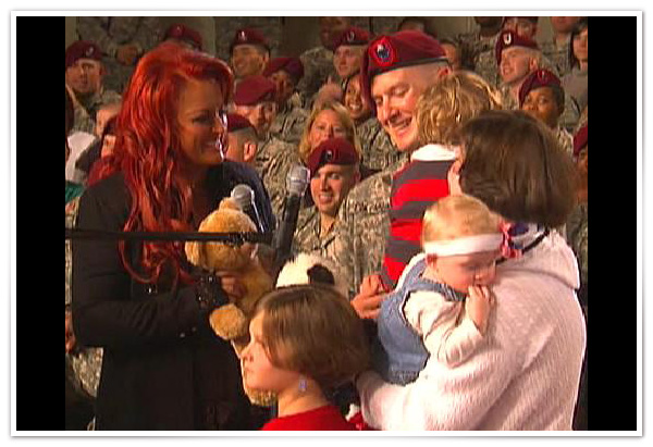 Wynonna Judd at Fort Bragg