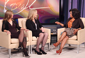 Christine and Lisa talk to Oprah.