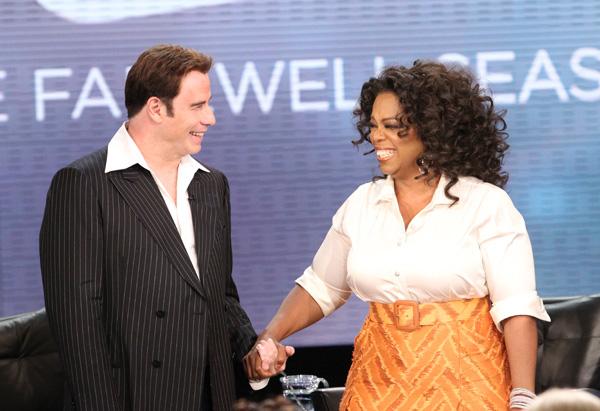 John Travolta and Oprah