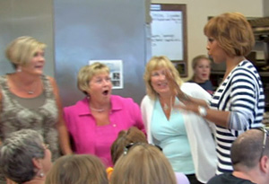 Gayle King surprises Cathy and her friends.