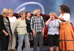 Cathy McCarthy and her friends drive straight onto the Oprah Show stage!