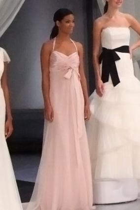 Halter-neck chiffon gown