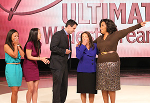 Oprah, Denni and her family