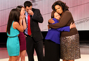 Oprah surprises Denni and her family