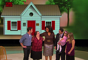 Oprah and Nate Berkus with Monica Jorge and her family